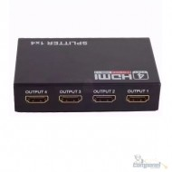 Distribuidor Splitter Hdmi 1x4 1.4v 4k2k Full HD 3d